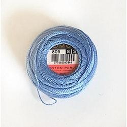 Pärlgarn nr 8 blå 809