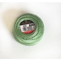 Pärlgarn nr 8 grön 368