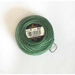 Pärlgarn nr 8 grön 367