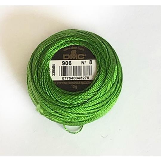 Pärlgarn nr 8 grön 906