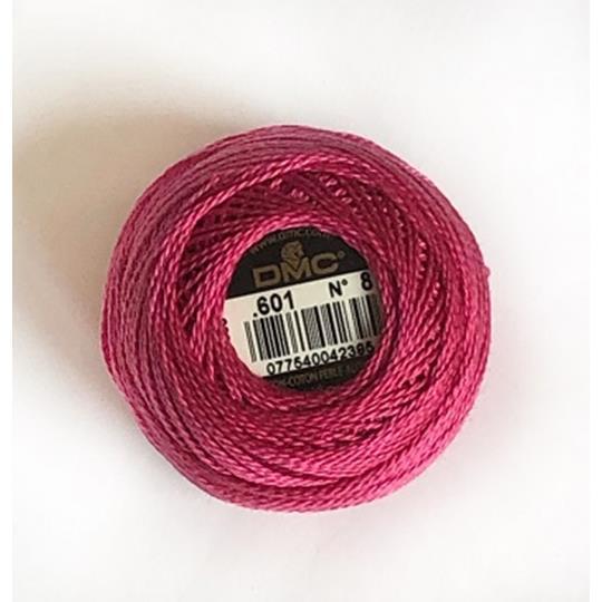Pärlgarn nr 8 rosa 601