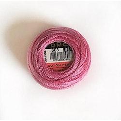 Pärlgarn nr 8 rosa 603