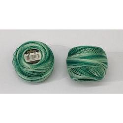 Pärlgarn nr 8 grön melerad 125