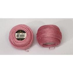 Pärlgarn nr 8 rosa 604