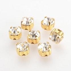 Strasspärla guld liten 15-p