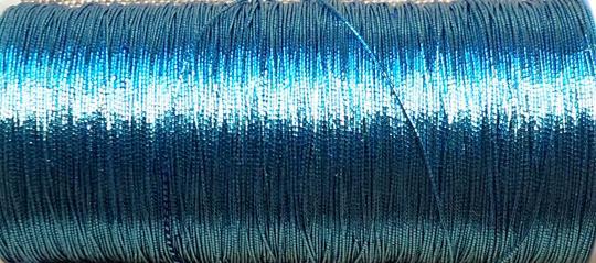 Metallictråd 371 påfågelsblå