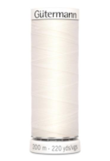 Sytråd polyester vit 111