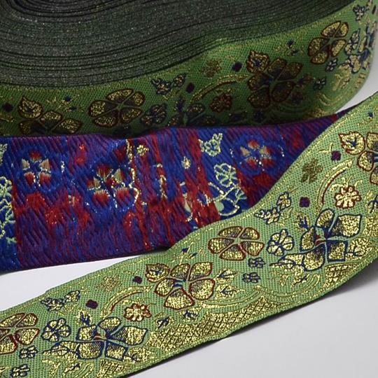Dekorband blommor grönt
