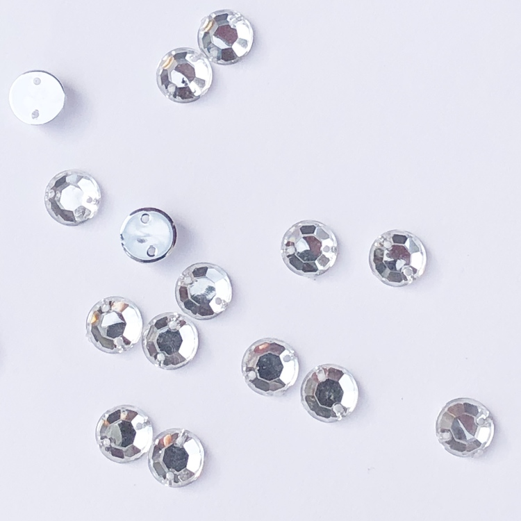 Pärla 10x15mm rund klar 8-p