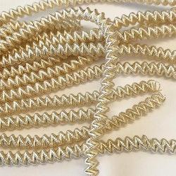 French wire cut 4mm blek guld