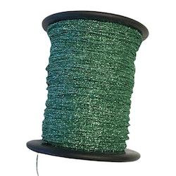 Metallictråd 1mm glitter grön