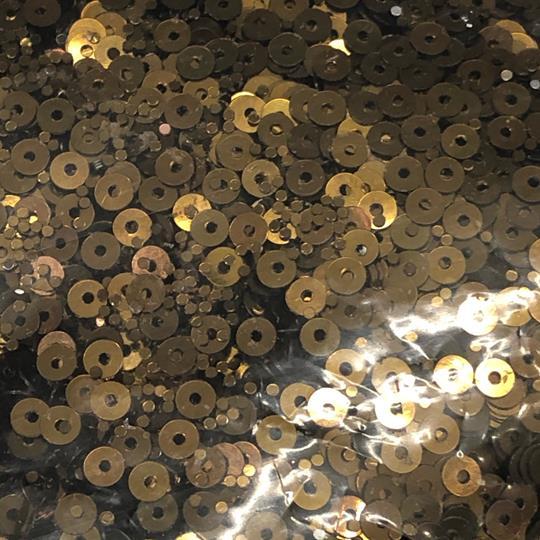 Paljett rund 4mm antik guld