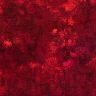 Bomullstyg marmorerat rött