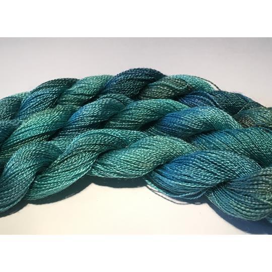 Broderigarn Silke superfin havsgrön