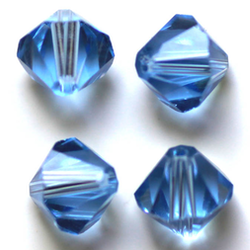 Pärla bicone glas ljusblå