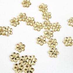 Blompärla platt guld