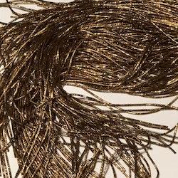 Bullion wire/ bright check 1mm guldbrun