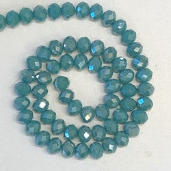 Glaspärla abacus opak teal 8mm
