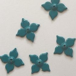 Paljett blomma 18x18mm teal