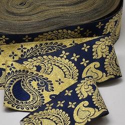 Dekorband paisley blå