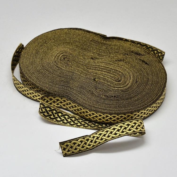 Dekorband svart & guld