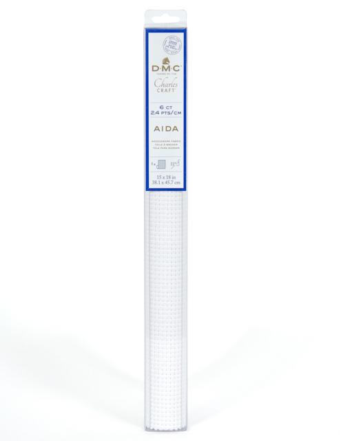 Aidaväv 2,4 rutor per cm
