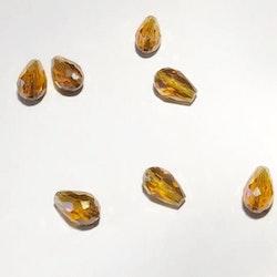 Pärla glasdroppe guldgul