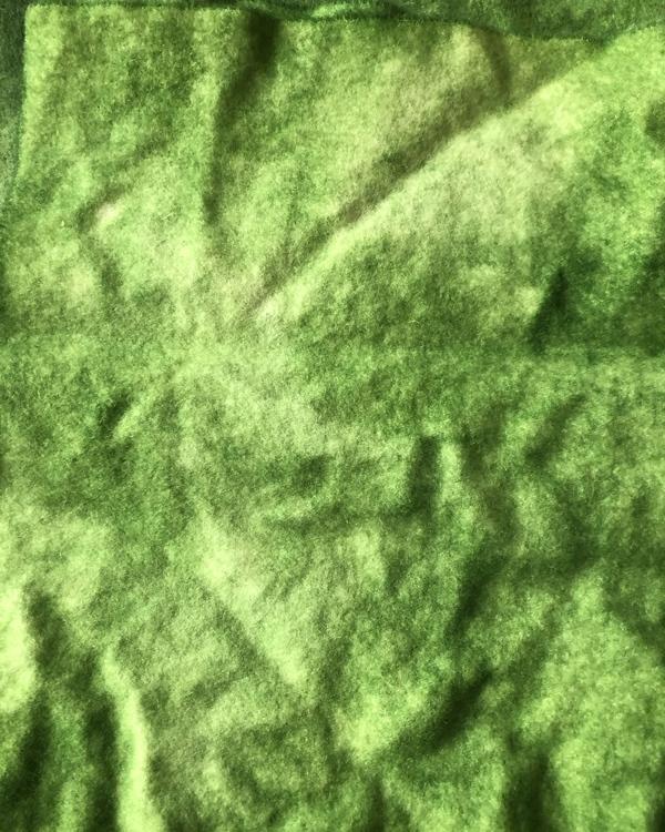 Vadmal 20x24cm grön handfärgad