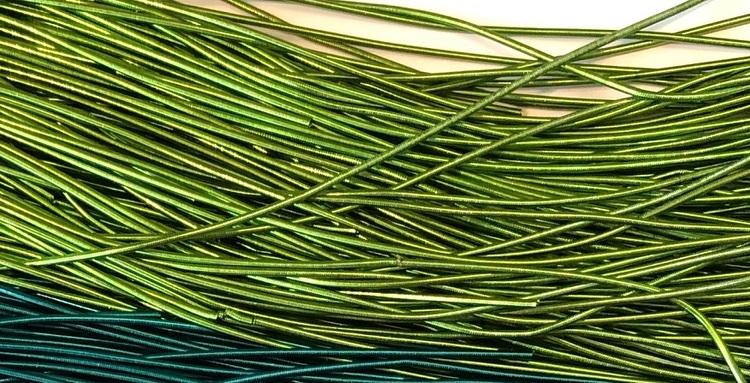 French wire 1mm ärtgrön