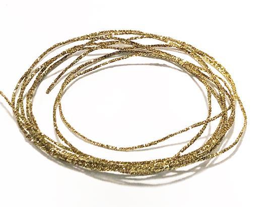 Metallictråd 1mm glitter guld
