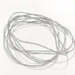 Metallictråd 1mm glitter silver