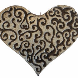 Blockstämpel hjärta 1