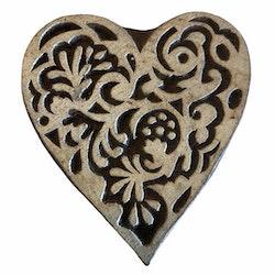 Blockstämpel hjärta 2