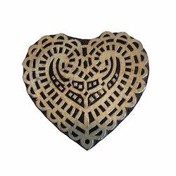 Blockstämpel hjärta 3