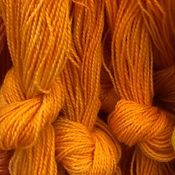 Möbelåtta 8/2 orange handfärgad