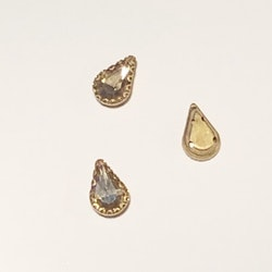 Montee droppe 7x11mm blek guld