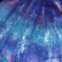 Sidentyg noil blå
