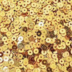 Paljett rund 3mm guld