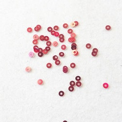 Paljett rund 3mm röd