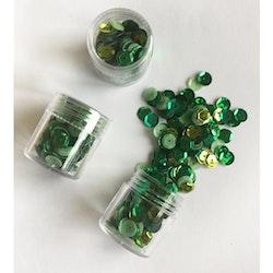 Paljett 6mm grön mix