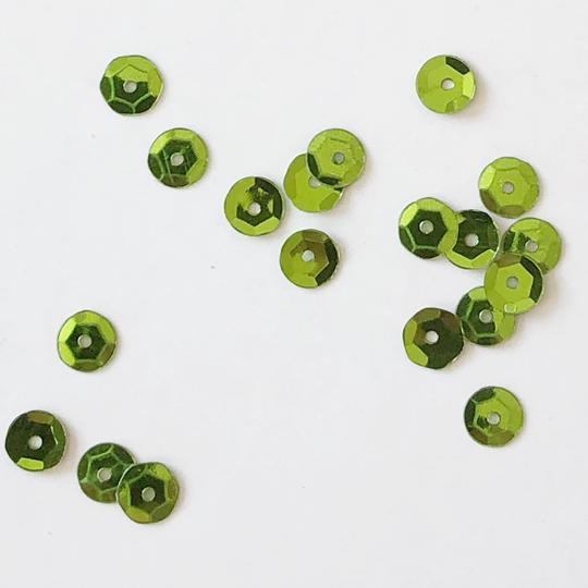 Paljett 6mm olivgrön