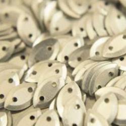 Paljett oval 5x9mm silver