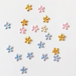 Paljett blommor pastell mix