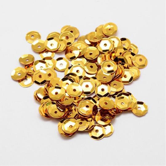 Paljett 6mm guld
