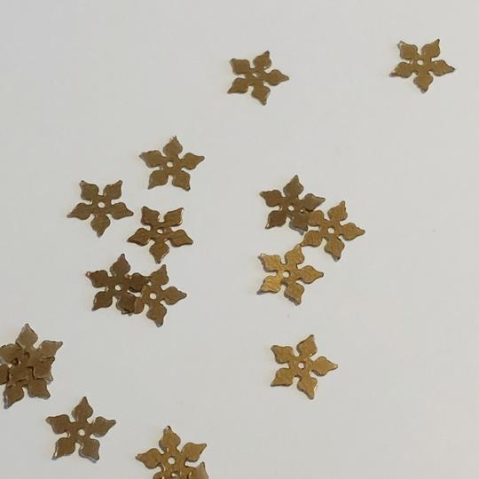 Paljett julstjärna antik guld