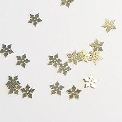 Paljett julstjärna guld
