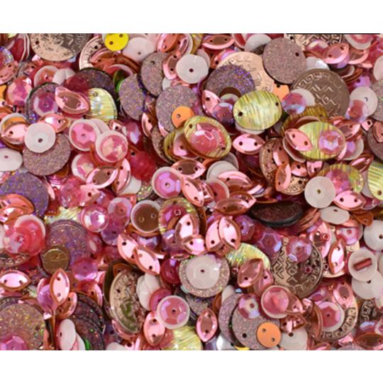 Paljett mix rosa