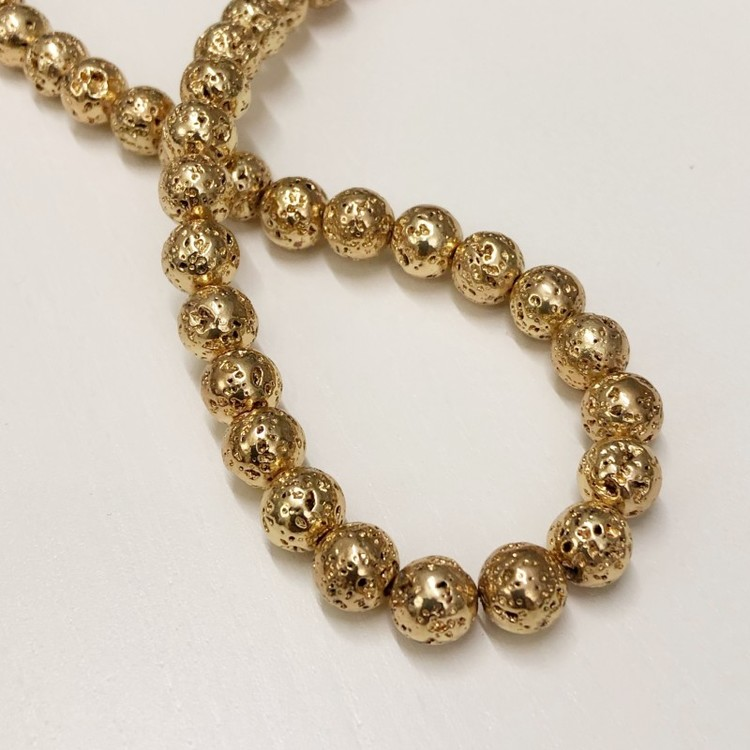 Pärla 9 mm guldpläterad