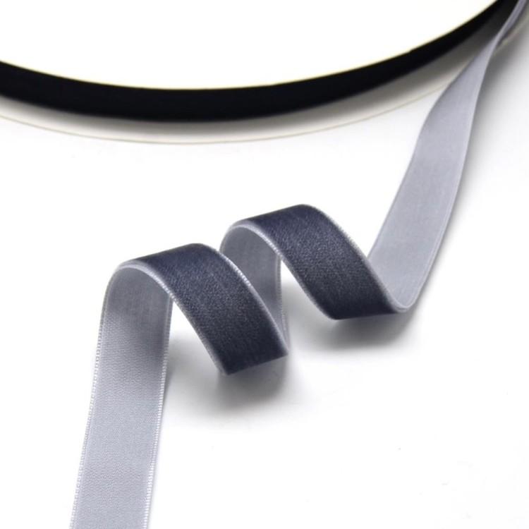 Sammetsband grå