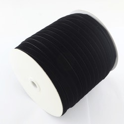 Sammetsband svart